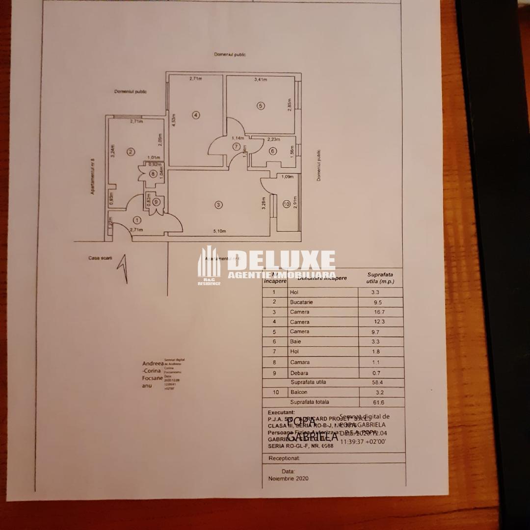 Apartament cu 3 camere in Micro 19,etaj 1